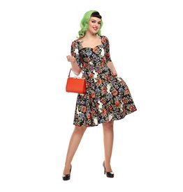 Collectif Eliana Forest Floral Swing Dress