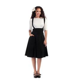 Collectif Alexa Plain Swing Skirt suspenders