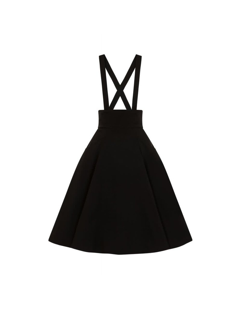Collectif Alexa Plain Swing Skirt suspenders