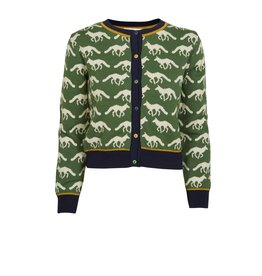 Palava Cardigan - Green Fox