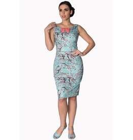 Banned Oriental Blossom wiggle dress