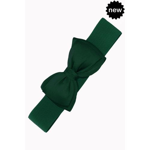 Bow Belt - bottle green
