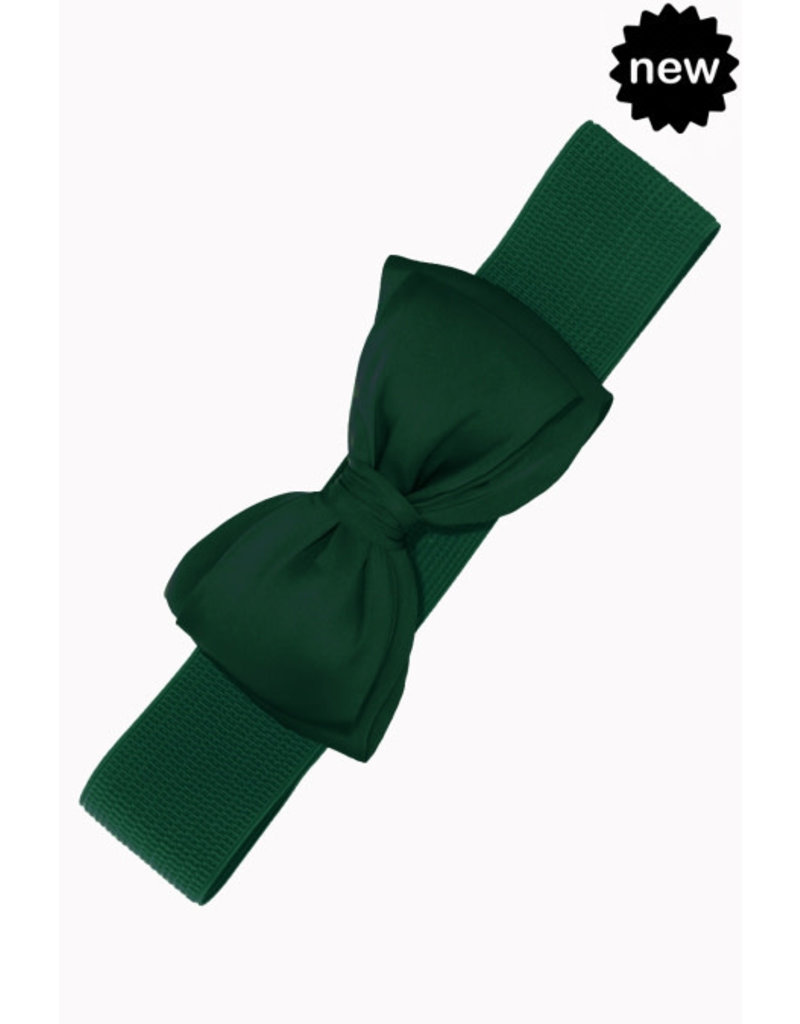 Bow Belt - bottle green