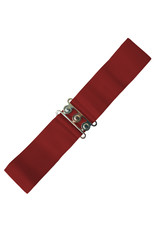Banned Stretch Belt - Burgundy