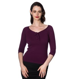 Banned Pretty Illusions Top - Aubergine