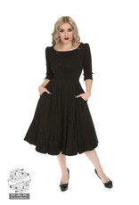 Hearts & Roses Wendy Dress - Black