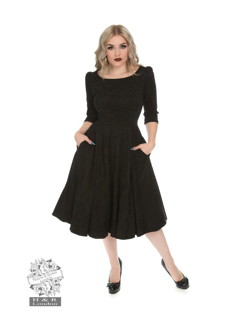 Hearts & Roses Wendy jurk - zwart