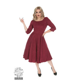 Hearts & Roses Wendy Dress - Burgundy