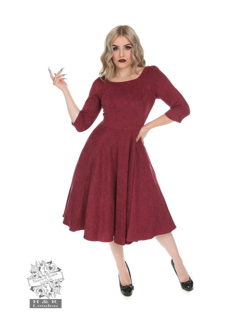 Hearts & Roses Wendy Dress - Burgundy