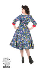 Hearts & Roses Oxford Floral Swing Dress