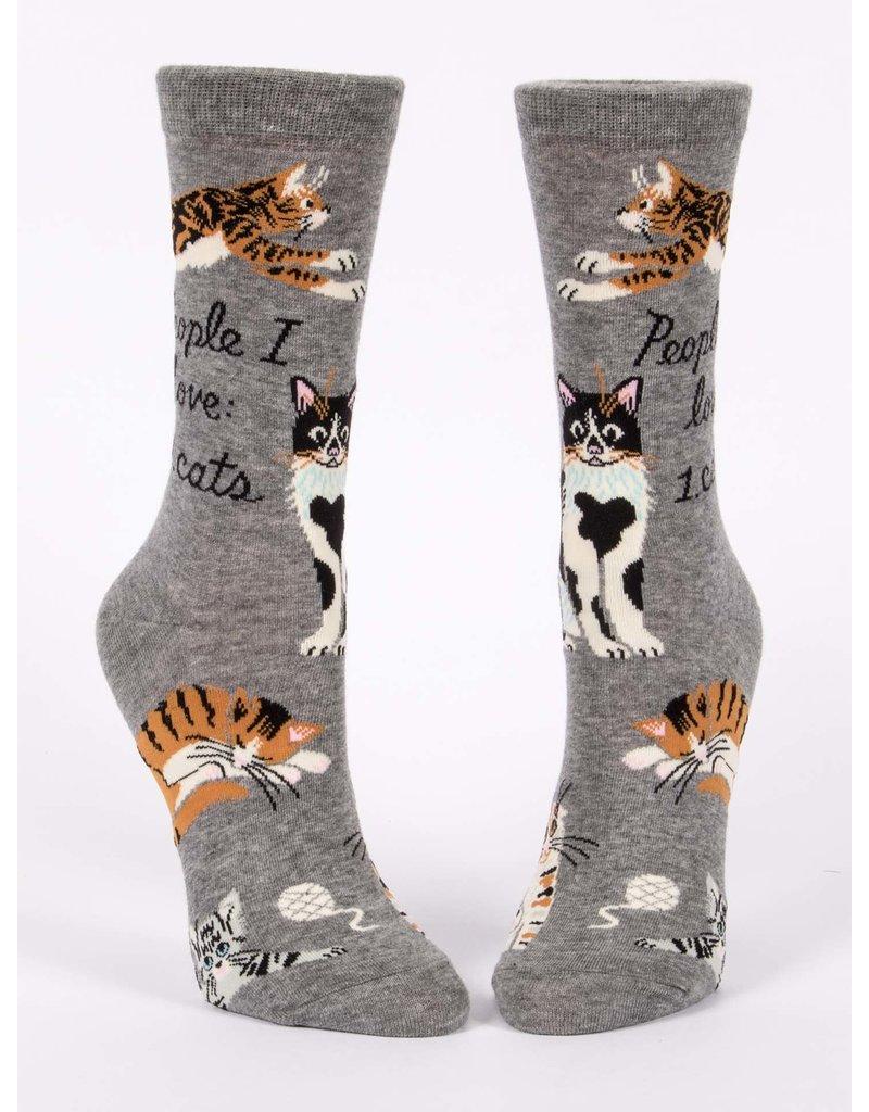 Blue Q People I love: Cats - socks