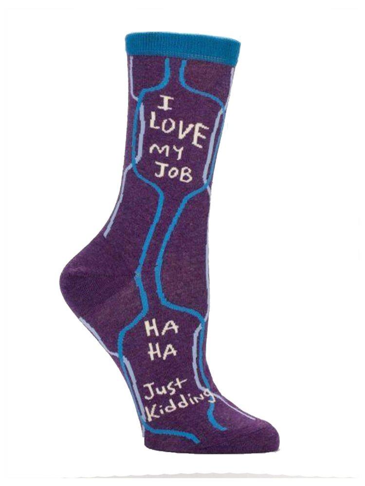 Blue Q I love my job - socks