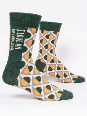 Blue Q I love an easy challenge - mens socks