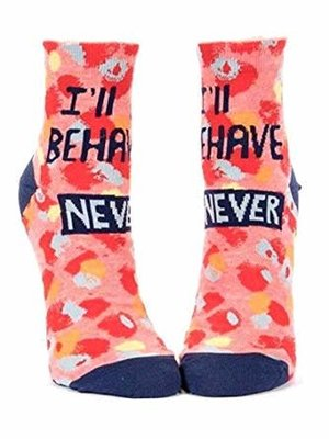 Blue Q I'll behave never - socks