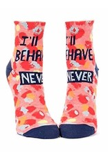 Blue Q I'll behave never - socks