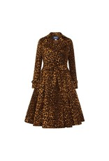 Collectif Scarlett Leopard Print Trench Coat