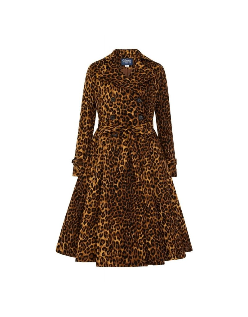 Collectif Scarlett Leopard Print Trench Coat