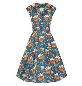 Lady V Florence Navy Floral Dress