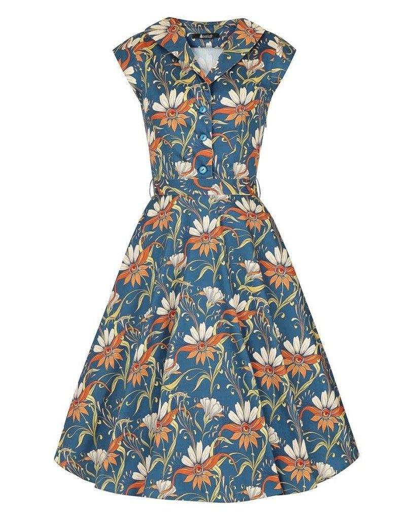 Lady V Florence Navy Floral Dress