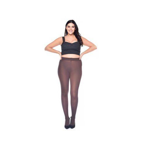 Pamela Mann 50 Denier Curvy Super Stretch Tights - Chocolate