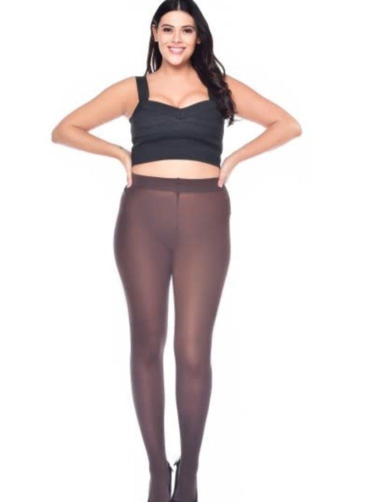 Pamela Mann 50 Denier Curvy Super Stretch Tights - Chocolate