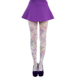 Pamela Mann Spring Flower printed tights