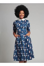 Collectif Winona Vintage Leaves Swing Dress