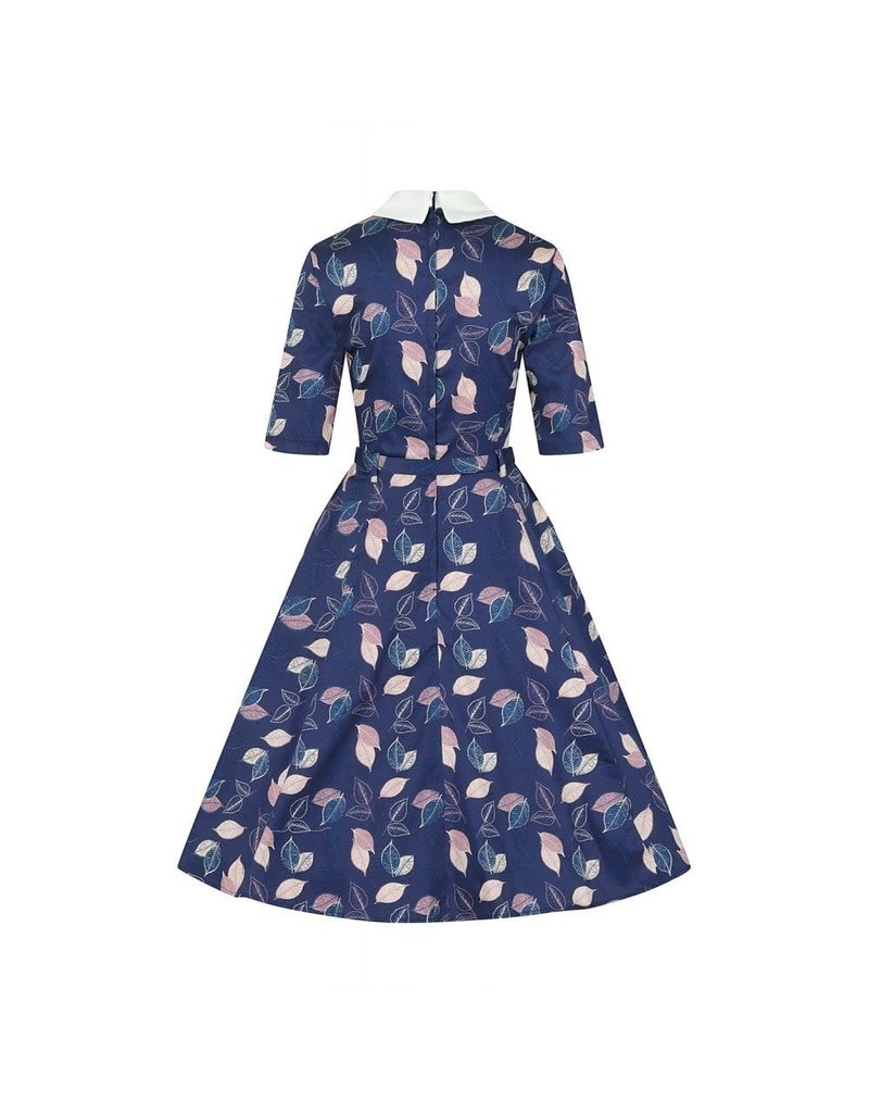 Collectif Winona Vintage Leaves Swing-jurk