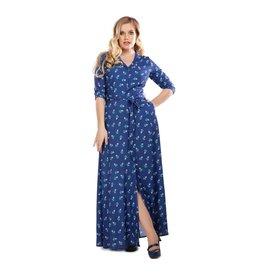 Collectif Luisa 40s Rose Bud Maxi-jurk