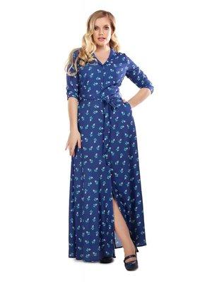 Collectif Luisa 40s Rose Bud Maxi Dress