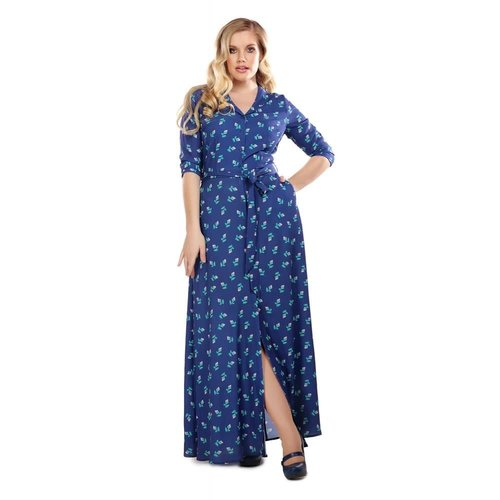 Collectif Luisa 40s Rose Bud Maxi-jurk