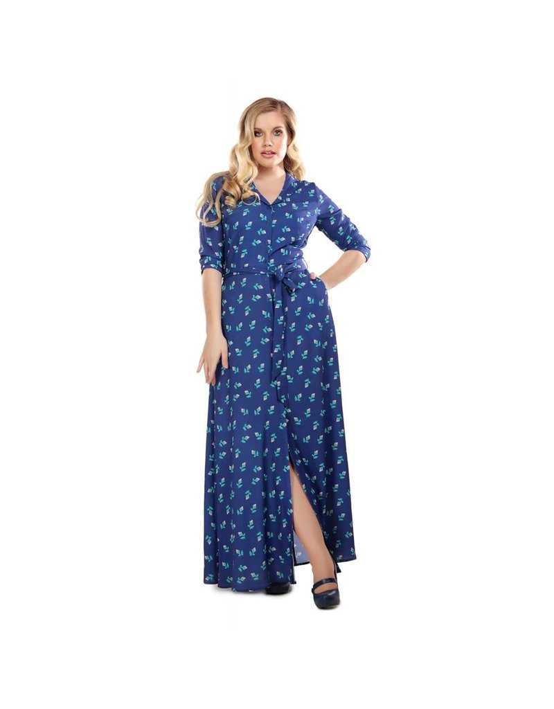Collectif Luisa 40s Rose Bud Maxi Dress
