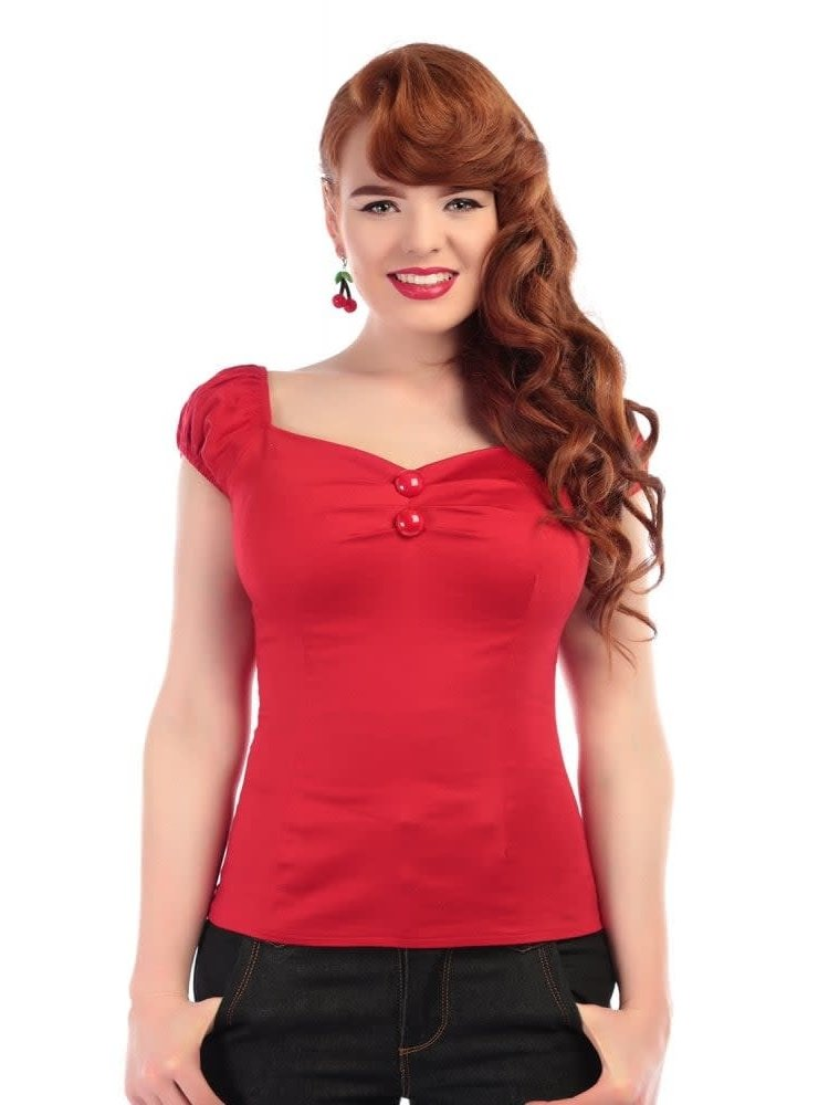 Collectif Dolores Top - red