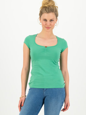 Blutsgeschwister shortsleeve top feminine - green