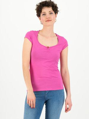 Blutsgeschwister shortsleeve top feminine - pink