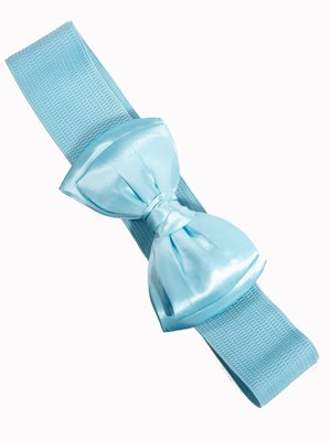 Banned Bow Belt - baby blue