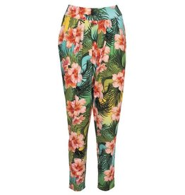 LaLaMour Pants Tropical - Green/Turquoise