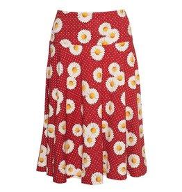 LaLaMour Cirkle Skirt Daisy - Red