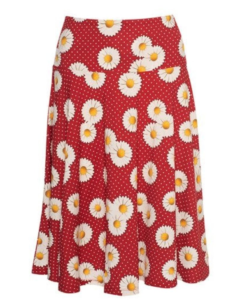 LaLaMour Cirkle Skirt Daisy - Red