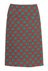 LaLaMour A-line Skirt Bloom - Turquoise