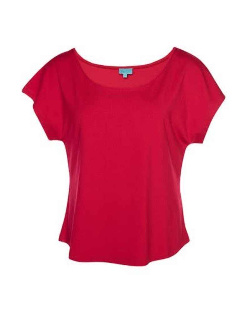 LaLaMour Loose Shirt Plain - Red