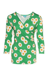 LaLaMour Wrap Shirt Daisy - Green