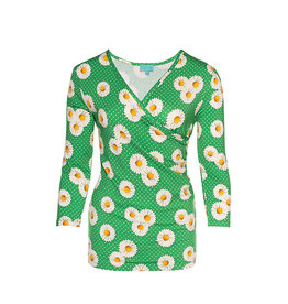 LaLaMour Wrap Shirt Daisy - Green