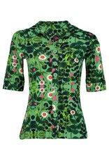 Tante Betsy Button Shirt Secret Garden Green