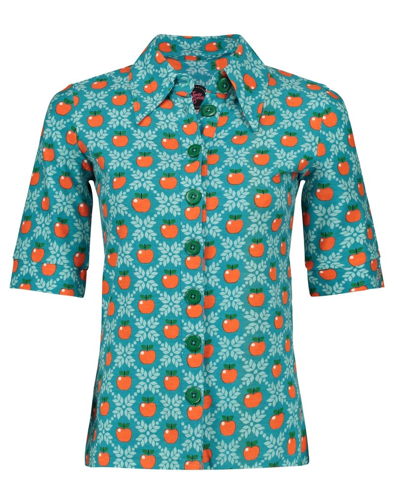 Tante Betsy Button Shirt Apple Grain Petrol