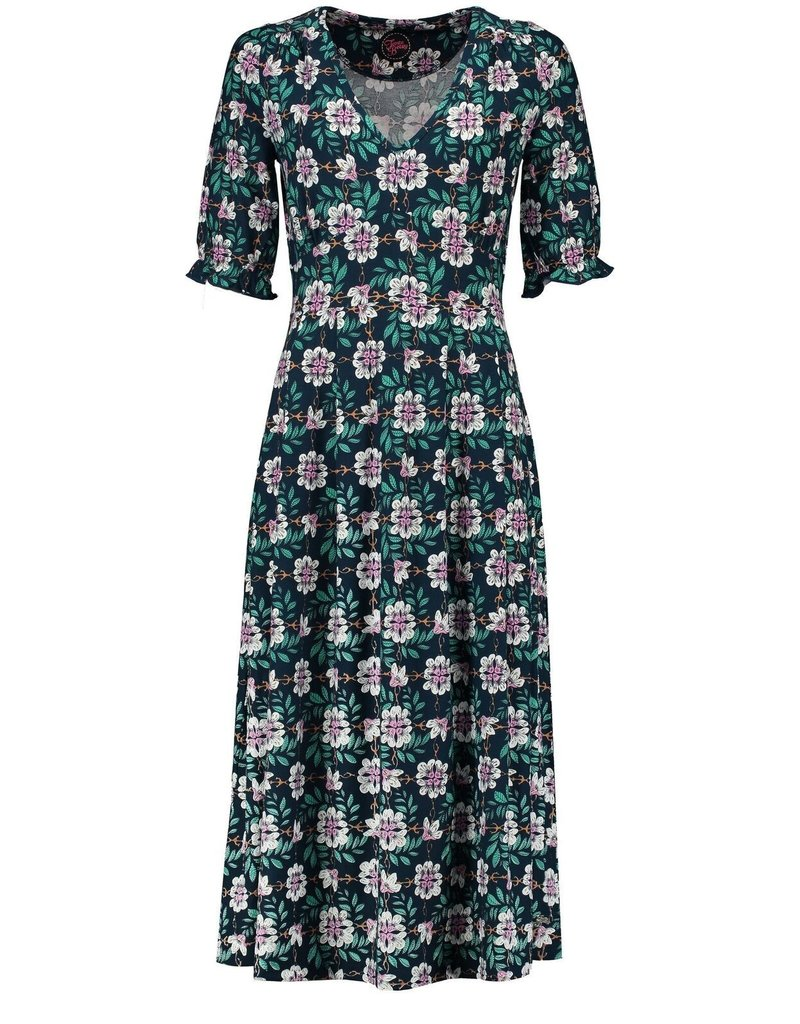 Tante Betsy Boho Dress Forest Flower Navy