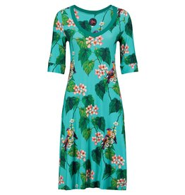 Tante Betsy Dress Lizzy Botanical Bird Blue