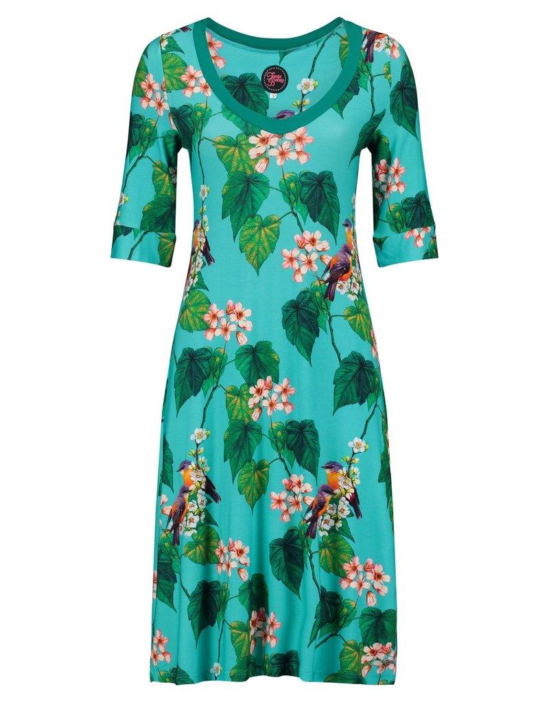 Tante Betsy Dress Lizzy Botanical Bird Blue
