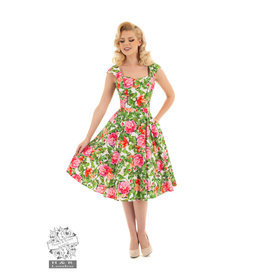 Hearts & Roses Penny Pleated Swing Dress