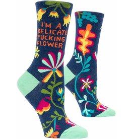 Blue Q I'm a delicate fucking flower socks